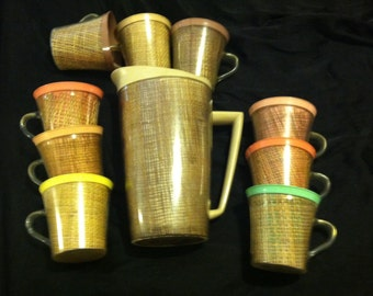 1950's Pitcher and Cups