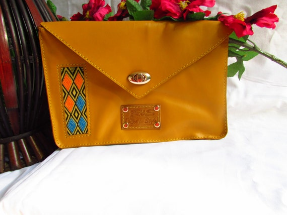 yellow leather clutch, leather women clutch, women evening bag, leather evening clutch, women evening clutch, gift for her, colorful clutch