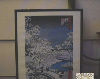 Traditional Japanese painting print (snow)