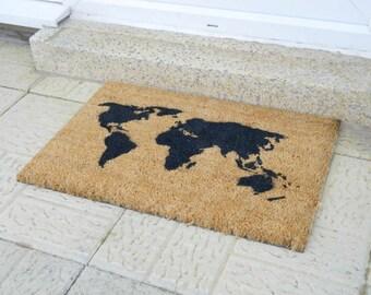 Map of the world doormat - 60x40cm