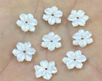 10mm 5pcs Mother Of Pearl Beads, Flower Shell Beads, Shell Jewelry
