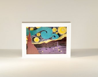 Framed Starry Night Paper Cut Art