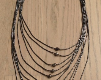 Vintage Liquid Silver Evening Necklace Classic Sterling
