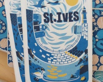 Wooden postcard : St Ives