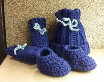 Newborn Baby Boy Crochet Set