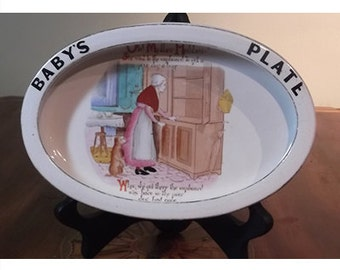 Vintage Carlton Ware Baby's Plate