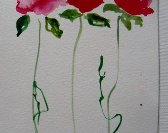 2 watercolor flower pictures