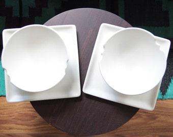 R S Lang noodle bowls stoneware pottery