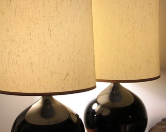 Pair of beautiful large mid century modern table lamps