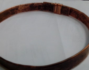 Copper hoop on the head