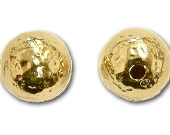 10mm Gold Filled Hammered Beads 14/20kt. - 5 pcs