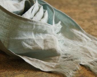 100% linen scarf