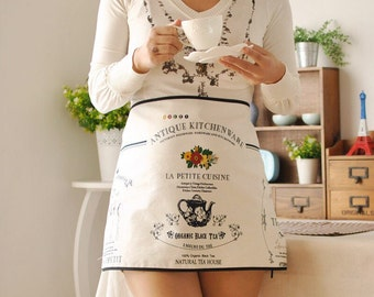 Cotton Shabby Chic French Maid Apron
