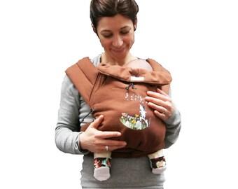 Porte bébé /Mei Tai/Echarpe de portage/Baby carrier Le Petit Farpiste Maman a dit! coton biologique/Biologic cotton Of the birth up to 15 kg