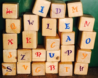 Alphabet Blocks Wood