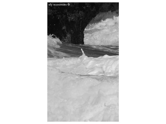 sea, ocean, aqua, wave, water, beach, black and white photography, wild, coast, Ocean Water Print, wall art, Ocean Waves, panoramic, 038