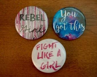 """Girl Power Buttons (1.5"""")"""