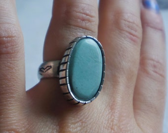 Lucen variscite ring UK L / US 5.75 sterling silver