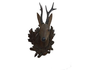 Folk Art Roe Deer - Black Forest