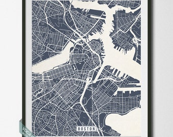 Boston Map, Massachusetts Poster, Boston Print, Massachusetts Print, Boston Print, Massachusetts Map, Street Map, Independence Day