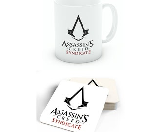 Assassins Creed Syndicate Mug and Coaster Set, Fan Merchandise Gift