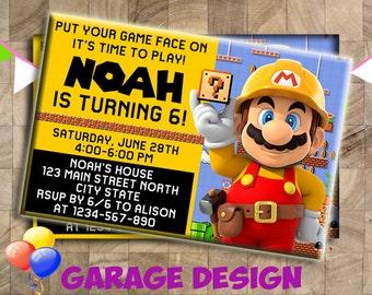Super Mario Birthday Invitation, Super Mario Party Invitation, Super Mario Birthday, Super Mario Invitation, Invitation, Birthday Invitation