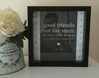 Box Picture with Quote Gift Idea