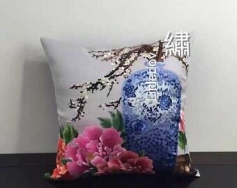 10001# Suxiu Unique hand Embroidered decorative pillow case