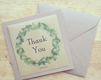 Wildflower seed thank you card