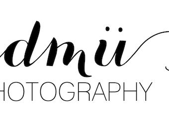 Simple Business Logo | Modern Calligraphy Logo | Photography Logo | Pre-made Logo