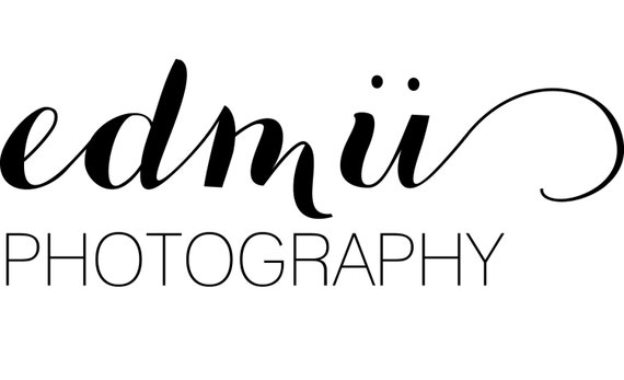 Simple business logo modern calligraphy photography