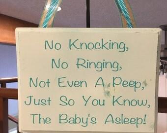 ON SALE!!! Baby sleeping sign