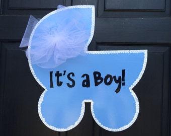 Hospital Door Hanger, Nursery Decor, Painted Door Hanger, New Baby Announcement, New Baby Door Hanger, Baby door hanger, door hanger, baby