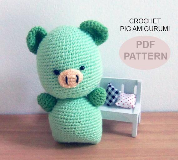 Amigurumi To Go Crochet Along Pig : Crochet Amigurumi Pig PDF Pattern crochet pig amigurumi