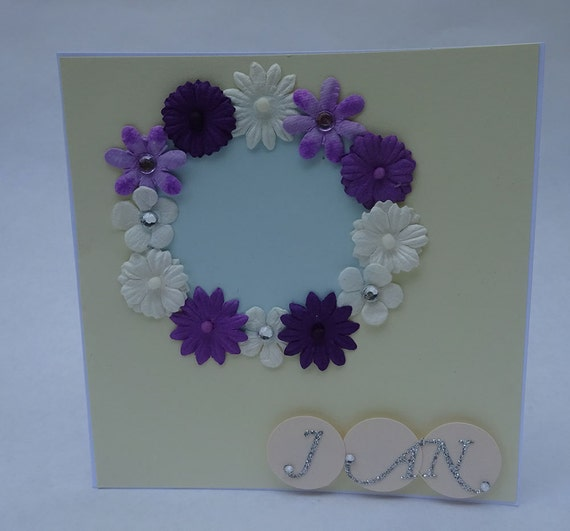 Greeting Cards - Handmade January Monthly Card with Flowers