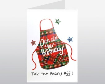 Scottish Birthday Card Peeny WWBI61