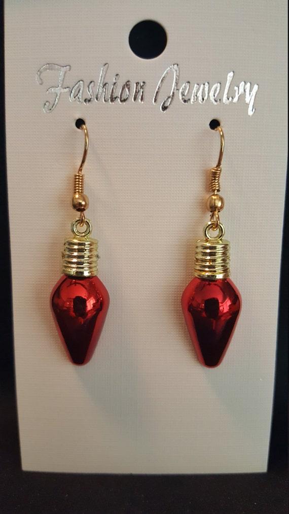 metallic flat back bulb earrings by kraft2kreation on etsy