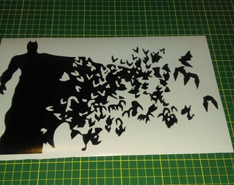 Batman to birds wall decal