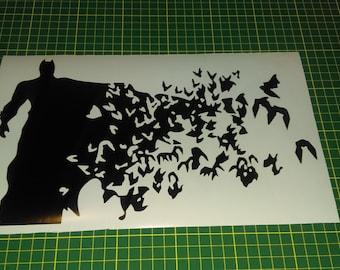 Batman to birds wall decal