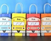 Wheels on the Bus Favor Bag Instant Download