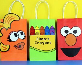 Elmo's World Favor Bag Instant Download