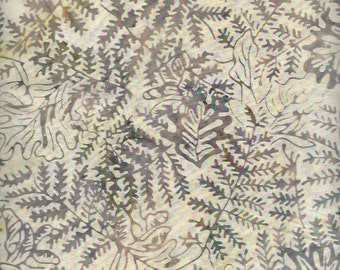 Batik Tan,Fern leaves dusty,Green, Timeless Treasure
