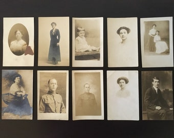 Lot of 10 Vintage Real Photo Postcards