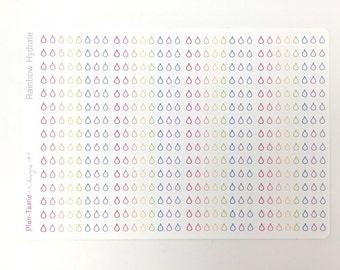 60 Rainbow Hydrate Stickers /  Planner Stickers / Erin Condren Planner Stickers