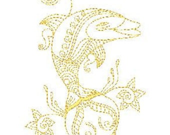 Dolphin Lineart  ( 12 Machine Embroidery Designs from ATW )