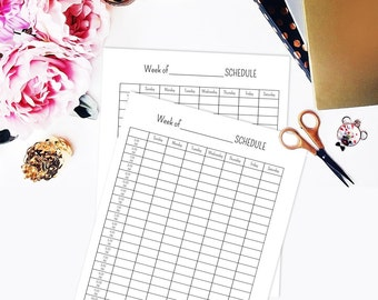 Weekly planner printable, Student planner, Weekly schedule planner, Printable planner pages, Hourly planner, Daily planner printable