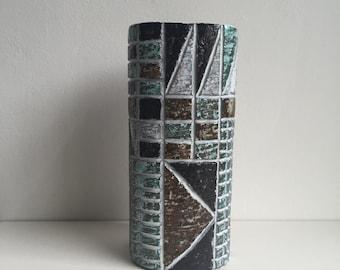 Scandinavian mid century modern Upsala Ekeby Ingrid Atterberg Tri series Swedish pottery vase 1960s