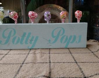 Potty Pops Sign