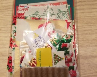 Christmas Ephemera Pack - 46 Pieces Total, Junk Journal, Scrapbooking, Card Making, Tags, Mixed Media, Smash Books, Handmade Crafts