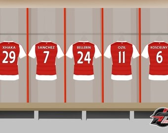Football Team Shirts Artwork Print